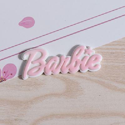 双色Barbie字母牌 树脂配件diy奶油胶手机奶油胶美容材料 饰品