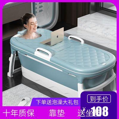 儿童洗澡桶婴儿洗澡盆坐躺两用宝宝浴盆成人折叠浴桶新生儿泡澡桶