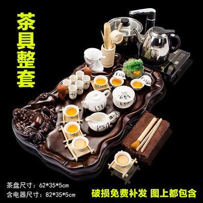 功夫茶具套装特价配件茶盘全套自动上水懒人整套家用茶杯烧水壶