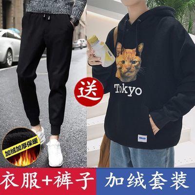 【贵一点好很多】春秋季运动休闲连帽卫衣两件套套装男学生韩版帅