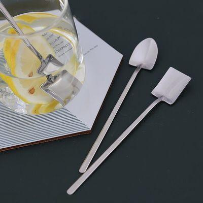 304不锈钢咖啡勺可爱勺子冰勺饭勺不锈钢搅拌勺长柄工兵铲铁锨