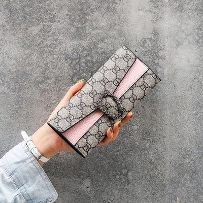 ins新款欧美酒神时尚钱包女长款复古钱夹手拿包多卡位卡包零钱包