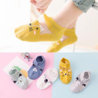 抖音同款儿童袜子男女童夏季水晶宝宝袜子棉丝袜可爱船袜网眼婴儿