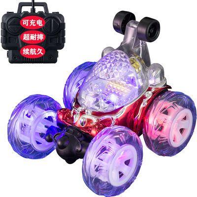 【续航久】儿童充电遥控车玩具电动特技翻斗车翻滚车赛车灯光音乐