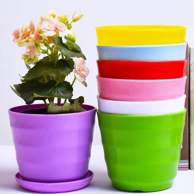 加厚花盆【送托盘+花种+肥料】绿植多肉绿萝花盆塑料花盆特价清仓