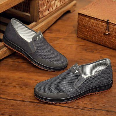 春秋季老北京布鞋男鞋单鞋中老年人爸爸鞋父亲鞋防滑休闲一脚蹬