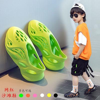 儿童椰子洞洞鞋男童凉鞋女童沙滩鞋运动鞋子镂空凉拖2020夏季新款