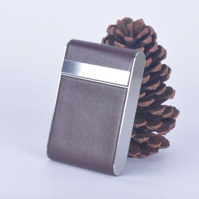 20支装烟盒创意超薄长细支烟盒男女不锈钢烟盒潮