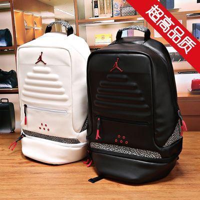 aj3黑白水泥潮流双肩背包男学生书包飞人篮球运动训练骑行旅行包