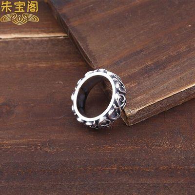 高档新品复古打造925银饰品永恒之藤闭口指环 泰银做旧款男女朋克