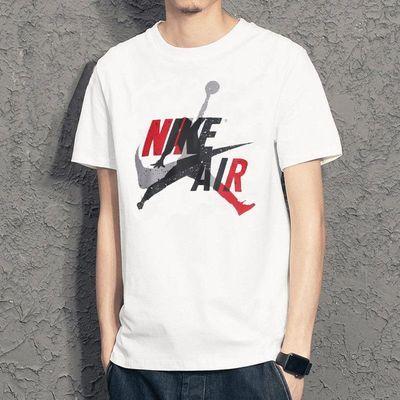 纯棉T恤AJ白NIKE耐克2020夏季新款运动体恤透气篮球短袖男CV1736