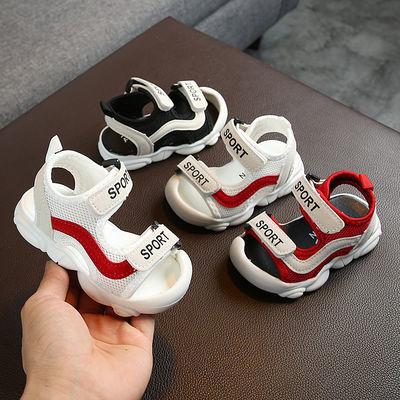 2020新款0-1-2-3岁宝宝凉鞋透气软底防滑男童婴儿学步鞋幼儿机能