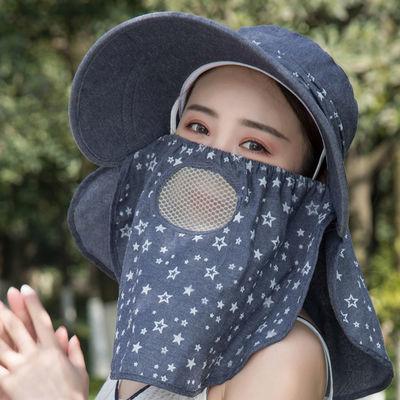 帽子女夏季怀旧遮阳帽防晒大檐韩版潮骑车女士帽子头大百搭采茶帽