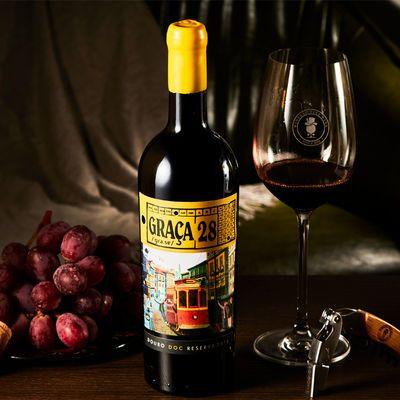 28路电车珍藏蜡封干红葡萄酒750ml葡萄牙进口里斯本Porta6BBC推荐