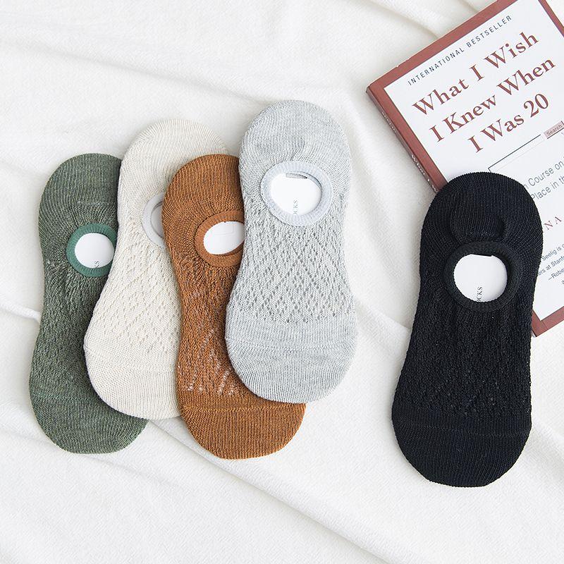 袜子女船袜浅口女士透气夏季薄款隐形纯棉硅胶防滑短袜不掉跟春季