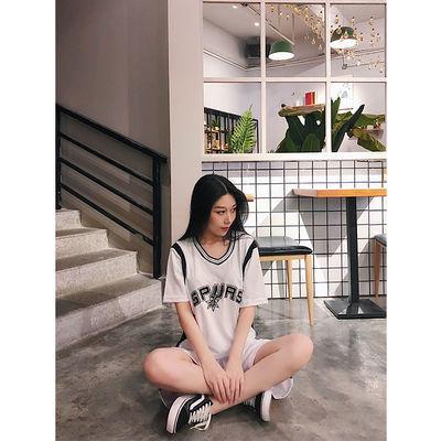 篮球服女韩版【定制印字印号】男女学生短袖套装篮球比赛运动班服