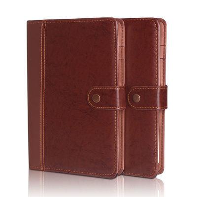 网红A5皮面复古商务记事本创意办公文具学生笔记本加厚工作记录本