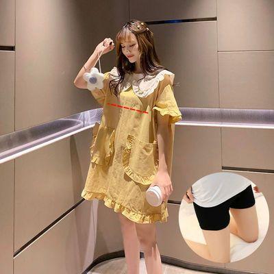 新款哺乳连衣裙套装夏季外出辣妈款外穿喂奶衣服上衣时尚哺乳装孕