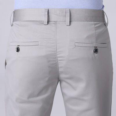 春夏新款天丝男士休闲裤男西裤夏季超薄款直筒冰丝商务大码男裤子