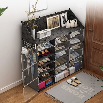 新款鞋架ins 鞋柜家用门口鞋架子简易多层防尘实木多功能鞋子收纳