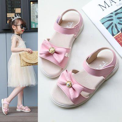 儿童凉鞋女2020新款软底女童凉鞋洋气小女孩公主鞋中大童沙滩鞋韩