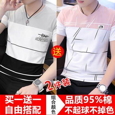 短袖t恤男夏季纯棉男士半袖体恤新款韩版潮流打底衫青少年男装T恤