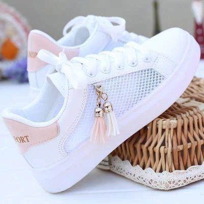 2020夏季新款潮鞋镂空小白鞋女平底网鞋百搭韩版学生休闲透气女鞋