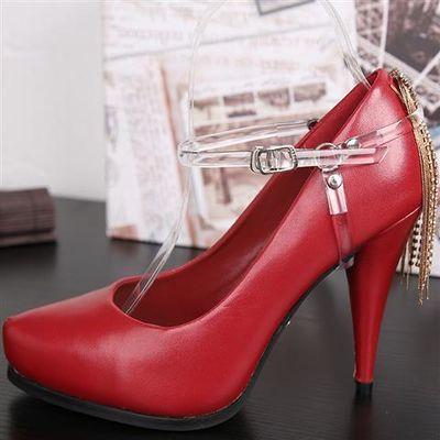 防止高跟鞋凉鞋拖鞋不跟脚三角束鞋带可调节鞋扣鞋饰防掉跟鞋扣带