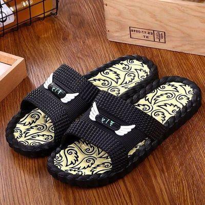 拖鞋男夏季韩版室内防滑情侣家居家用软底浴室男士凉拖鞋时尚外穿