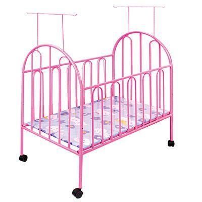 婴儿铁床带滚轮带蚊帐游戏环保无味儿童宝宝铁艺床BB新生儿可拼接