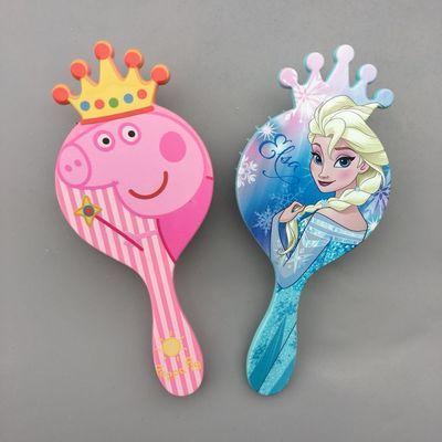 卡通女童梳子冰雪公主皇冠梳子镶水钻按摩头皮防静电化妆梳包邮