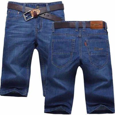 流行士直余文乐复古牛仔短裤男五分裤夏季薄款力薄热带工作外贸补