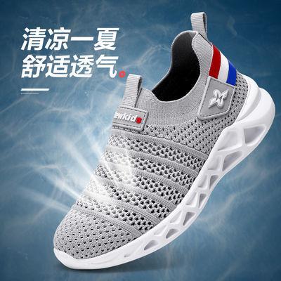 春秋男童运动双网鞋2020夏季儿童鞋透气单网男孩网鞋网面中大童鞋