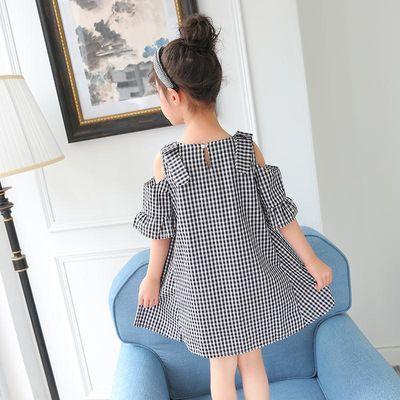 女童连衣裙格子裙夏装2020新款儿童中大童洋气裙子公主裙夏季童装