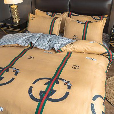 北欧ins潮牌亲肤四件套床上用品男女学生宿舍三件套1.2米床单被套