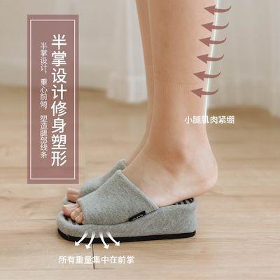 76257/日本半掌按摩拖鞋减肥瘦腿提臀拉筋美腿瘦身拖鞋女小巧健身鞋女夏