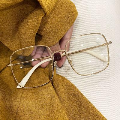 抖音小红书珠光闪边潮近视眼镜女可配度数方框钻石眼镜架防辐射