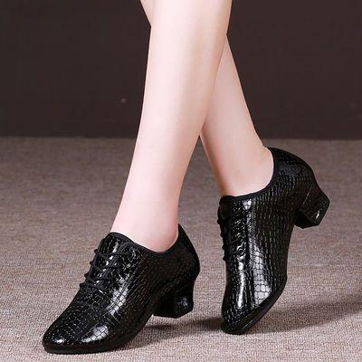 21932/拉丁舞鞋女中高跟软底水兵舞鞋教师舞蹈鞋室外四季交谊广场舞蹈鞋