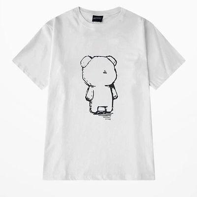 信誉小屋 夏季新款100%全棉休闲时尚白色T恤 假一赔十