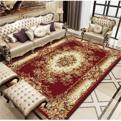 欧式古典简约客厅沙发茶几卧室床前满铺地毯可清洗定制