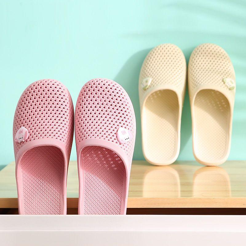 买一送一.两双装】 夏季居家包头洞洞鞋室内外穿防滑家用凉拖鞋女