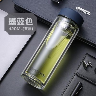 富光玻璃杯500ml耐高温喝水杯女男双层便携单层透明泡茶杯子600ml