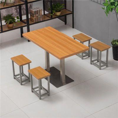 简易小吃店食堂饭店快餐桌椅组合经济型咖啡厅甜品店面馆桌椅包邮