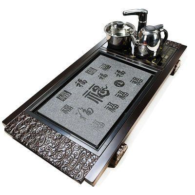新品特卖实木茶盘木制茶座家用功夫茶具套装电磁炉茶海台茶托简约
