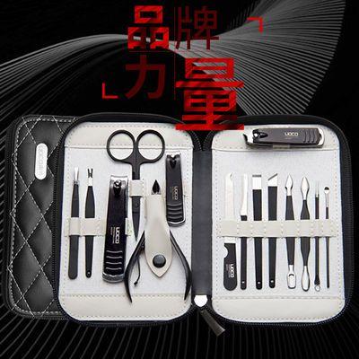 精钢指甲刀套装指甲钳不锈钢美甲大号指甲剪单个套盒指甲钳子工具