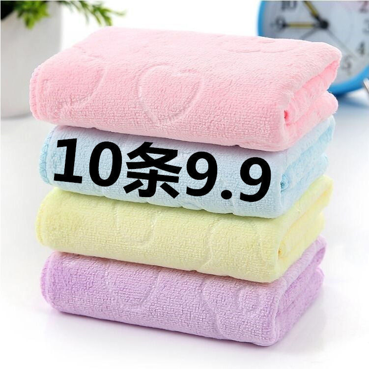 毛巾纯棉成人洗脸家庭装手巾加厚吸水家用洗澡擦脸柔软面巾不掉毛