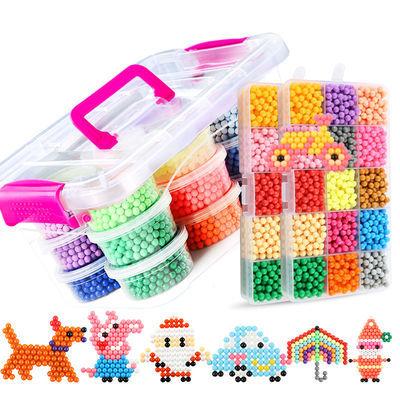 神奇水雾魔法珠DIY创意手工水粘珠魔珠子儿童益智拼图玩具水溶豆