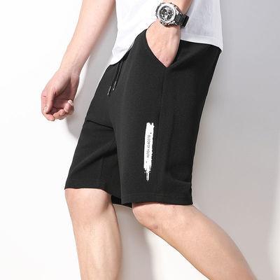 短裤男潮五分裤夏季宽松透气弹力运动裤男士沙滩裤8XL大裤衩马裤