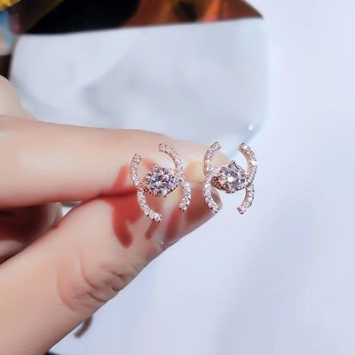 小香风耳环韩国气质网红925纯银耳钉2020年新款潮简约女小巧耳饰