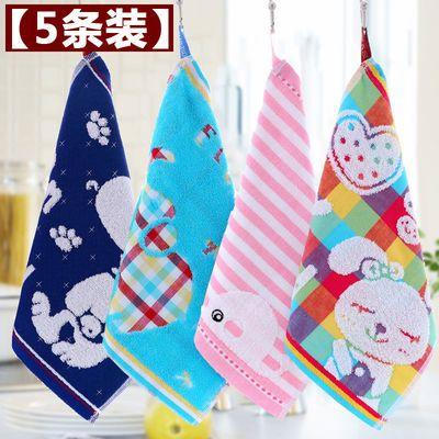 纯棉小毛巾儿童洗脸家用婴儿柔软吸水四方巾手绢女宝宝口水巾批发